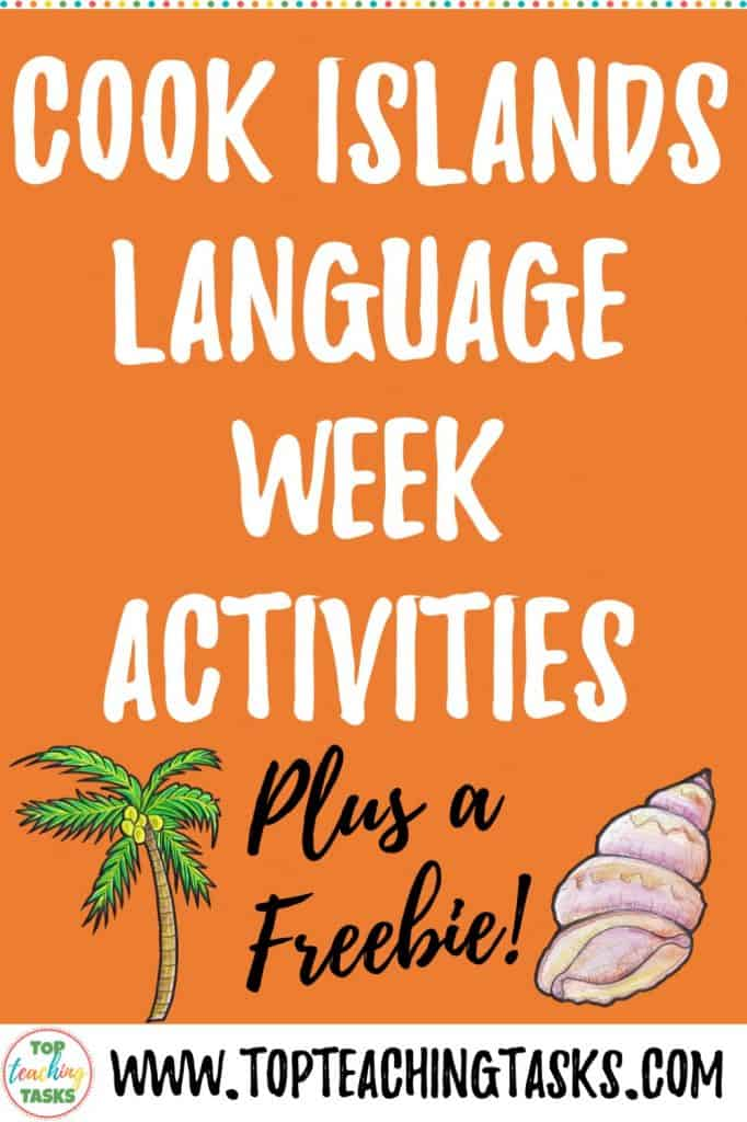 Kia Orana! I've put together this blog post to highlight Cook Islands Language Week Activities. Read on to gather some ideas for bringing the language and culture of the Cook Islands into your classroom this August. Cook Islands Language Week: Te 'epetoma o te reo Māori Kūki 'Āirani runs from Sunday August 4th until Saturday August 10th.