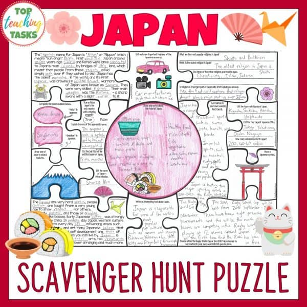 Japan Country Study Scavenger Hunt