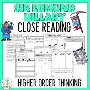 Sir Edmund Hillary Reading Comprehension