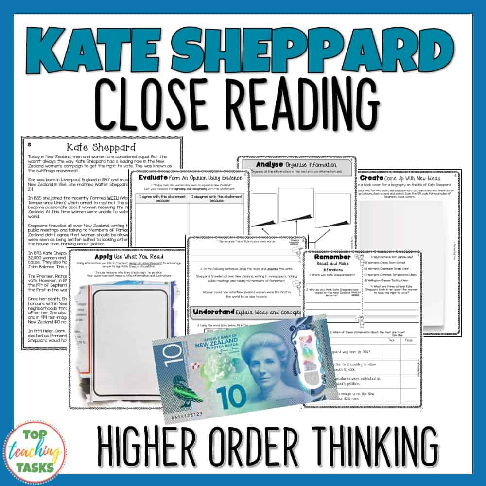 Kate Sheppard Reading Prehension Passages And Questions