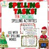 Christmas Spelling Activity Pack 1