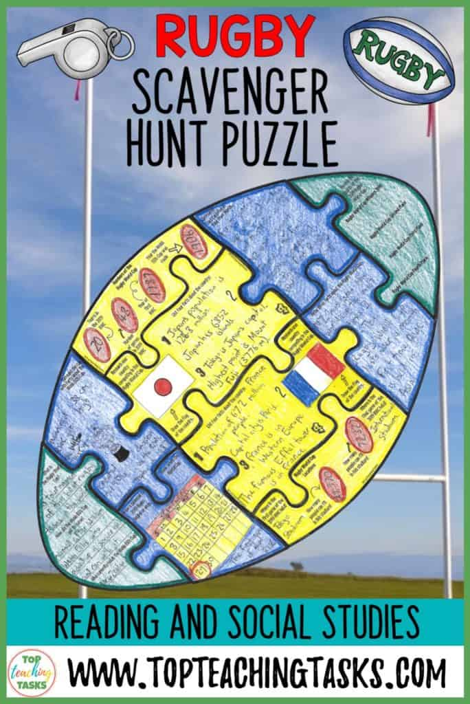 Engage your students in the upcoming Rugby World Cup in Japan with our interactive scavenger hunt and puzzle pack! Your students will learn about the history of the World Cup, its traditions, and this year's event! This Rugby 2019 product will be updated for free to include information about future tournaments.