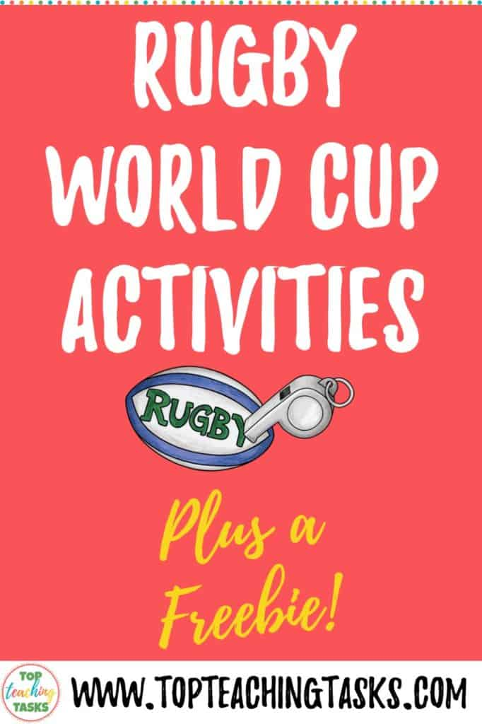Rugby World Cup activities. The upcoming Rugby World Cup is a great chance to integrate a high-interest topic into your classroom program. This blog post gives ideas on how to integrate this rugby tournament into literacy, maths and social studies curriculum areas, as well as creative thinking.