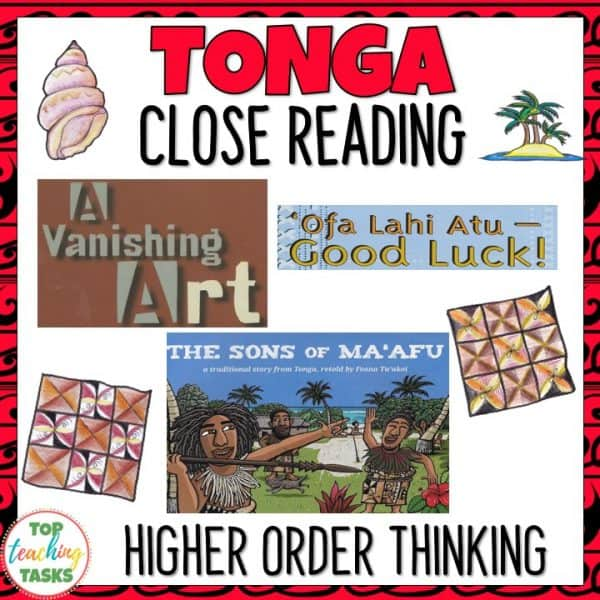 Tonga Reading Comprehension Activities