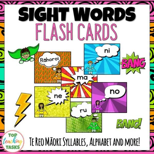 Te Reo Sight Word Flash Cards