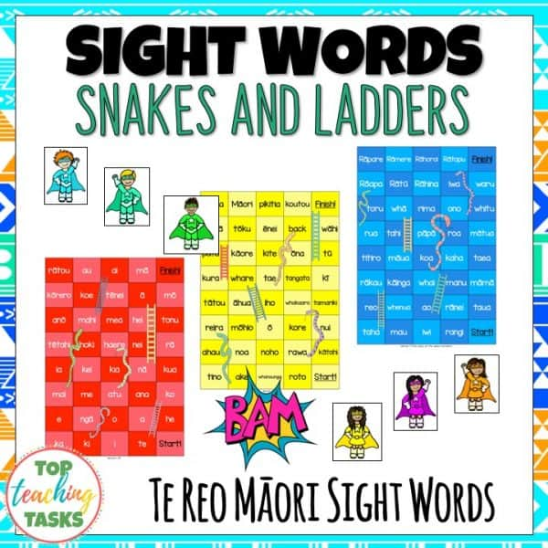 Te Reo Snakes and Ladders