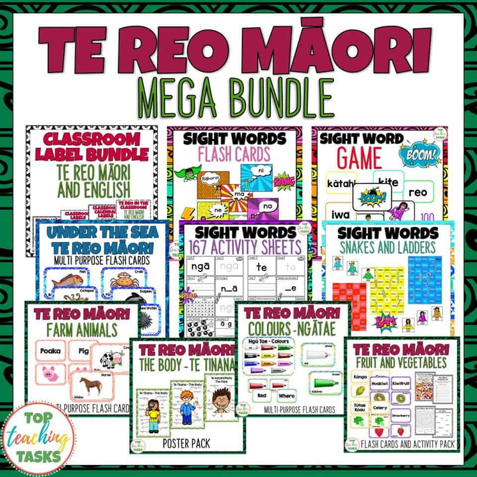 This discounted bundle includes a twelve discounted (over 30% off) resources to highlight and teach te reo Māori kupu (words) in the classroom. Perfect for Maori Language Week - Te Wiki o Te Reo Maori 2019! This bundle would be useful in both bilingual and full immersion Māori medium classrooms, as well as an introduction to te reo Māori words for English speaking classes!
