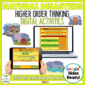 Natural Disasters Reading Comprehension Digital