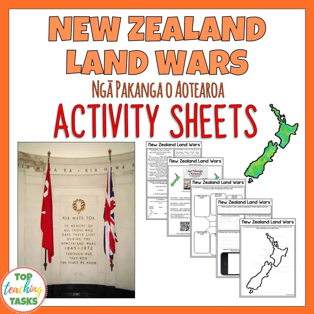 Are you looking for a New Zealand Land Wars teaching resource to commemorate the New Zealand Land Wars? We can help! This FREE print-and-go resource will help your students to understand more about this important time in New Zealand's history, while also developing their reading comprehension and writing skills.