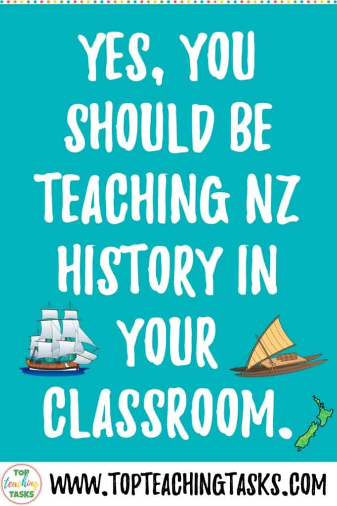 Yes, you should be teaching New Zealand History in your classroom! Now that we've got that sorted, let me explain four reasons why. Students need to understand their history. They learn critical thinking skills. They learn how to use primary sources. You can integrate literacy and history. Also, we have a free resource to help you teach New Zealand history in your classroom.