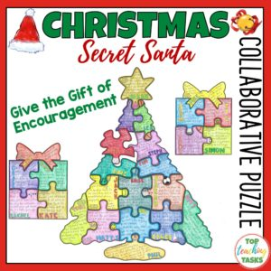 Christmas Secret Santa Collaborative Puzzle.