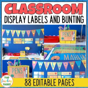 Editable Classroom Display Labels
