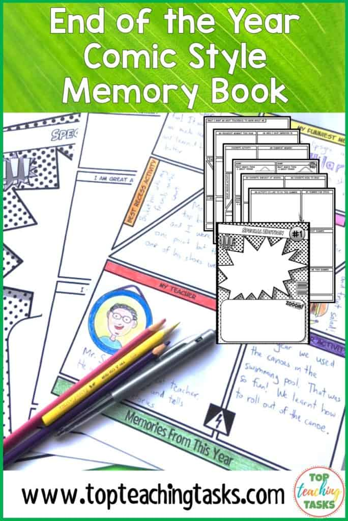 End of the year memory book. Celebrate a fantastic school year and help your students to remember it forever with our end of year memory book. Your upper elementary students will love this end of the year printables activity - perfect for your upper primary class! An engaging memory book for your year 4, year 5 and year 6 students. {Memory book, end of year activities for kids. End of Year Printables, End of Year Worksheets} #endoftheyearactivities