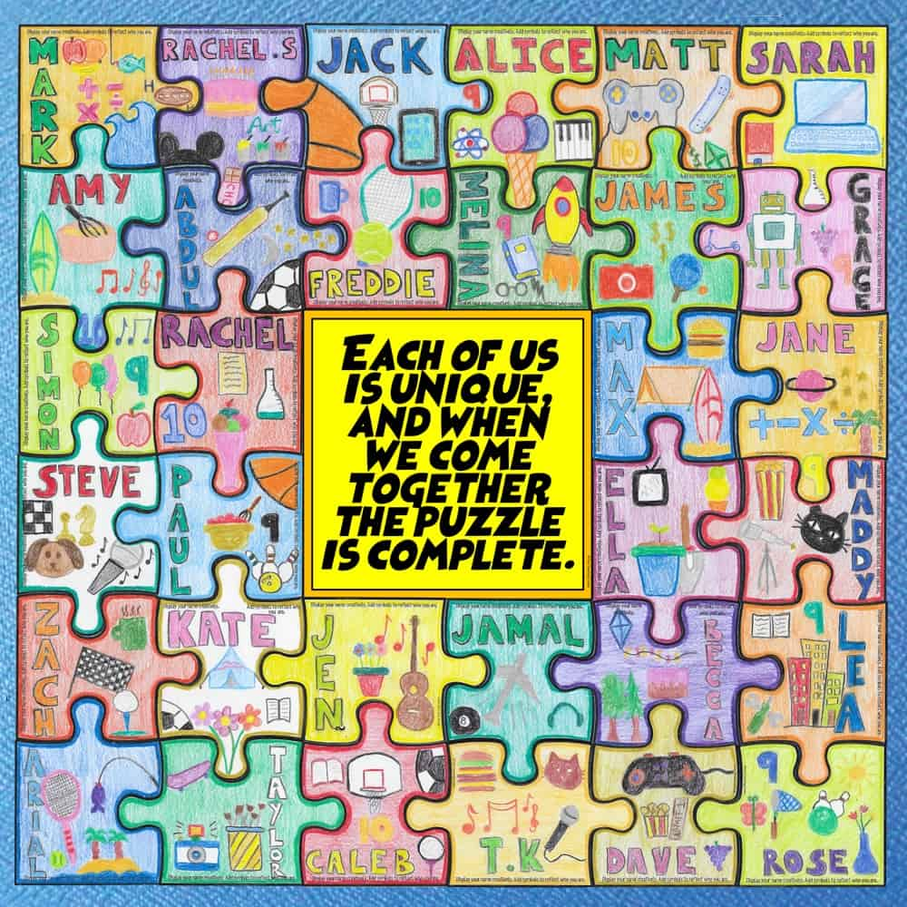 Back to School Collaborative Puzzle