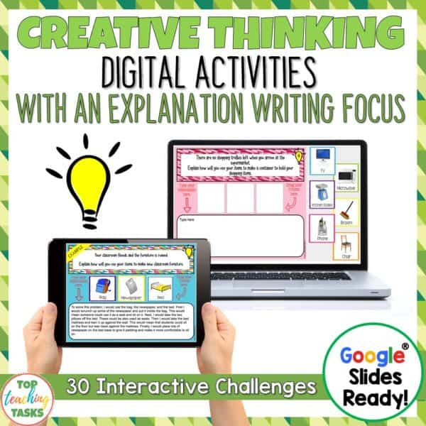 Creative Thinking Digital Writing Activities