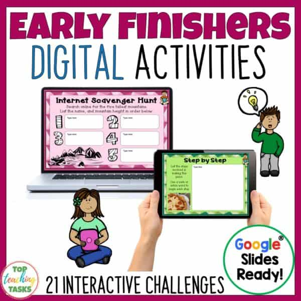 Early Finishers Digital Activities