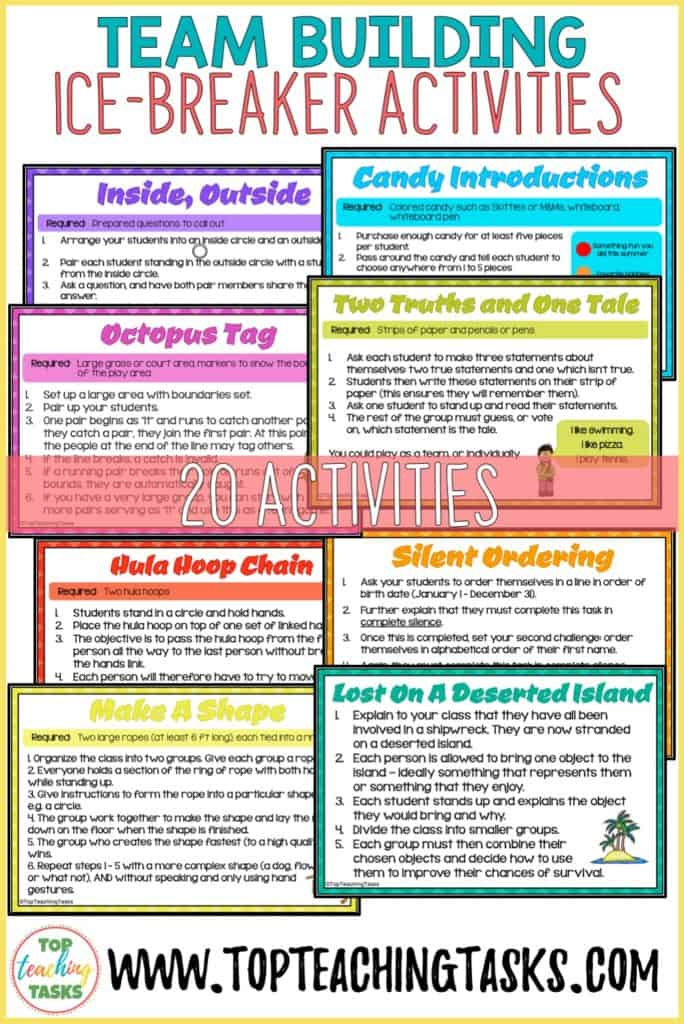 Team Building Activities to build your positive classroom culture