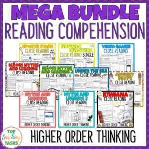 Reading Comprehension Passages and Questions Mega Bundle