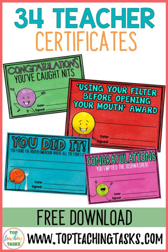 Teacher certificate freebies 1