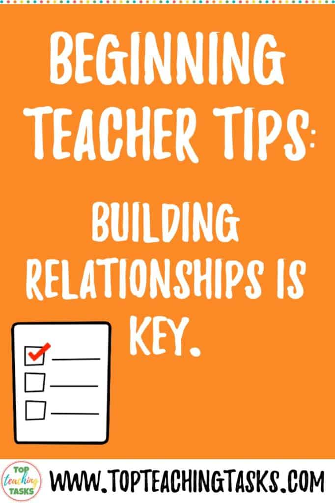 Never underestimate the power of building relationships with your students.