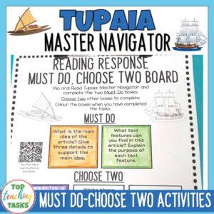Tupaia Reading Response Free