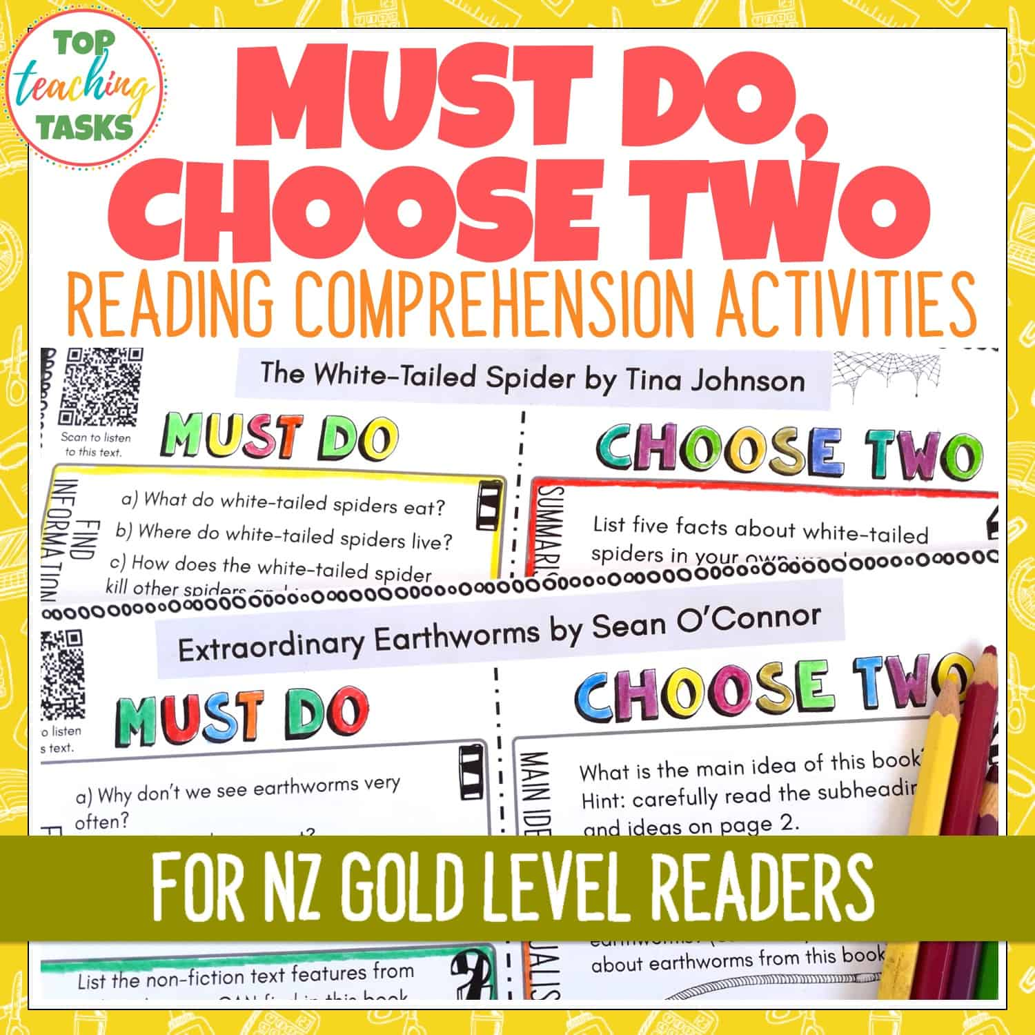 - Ready To Ready Gold Level Reading Comprehension Activities Year