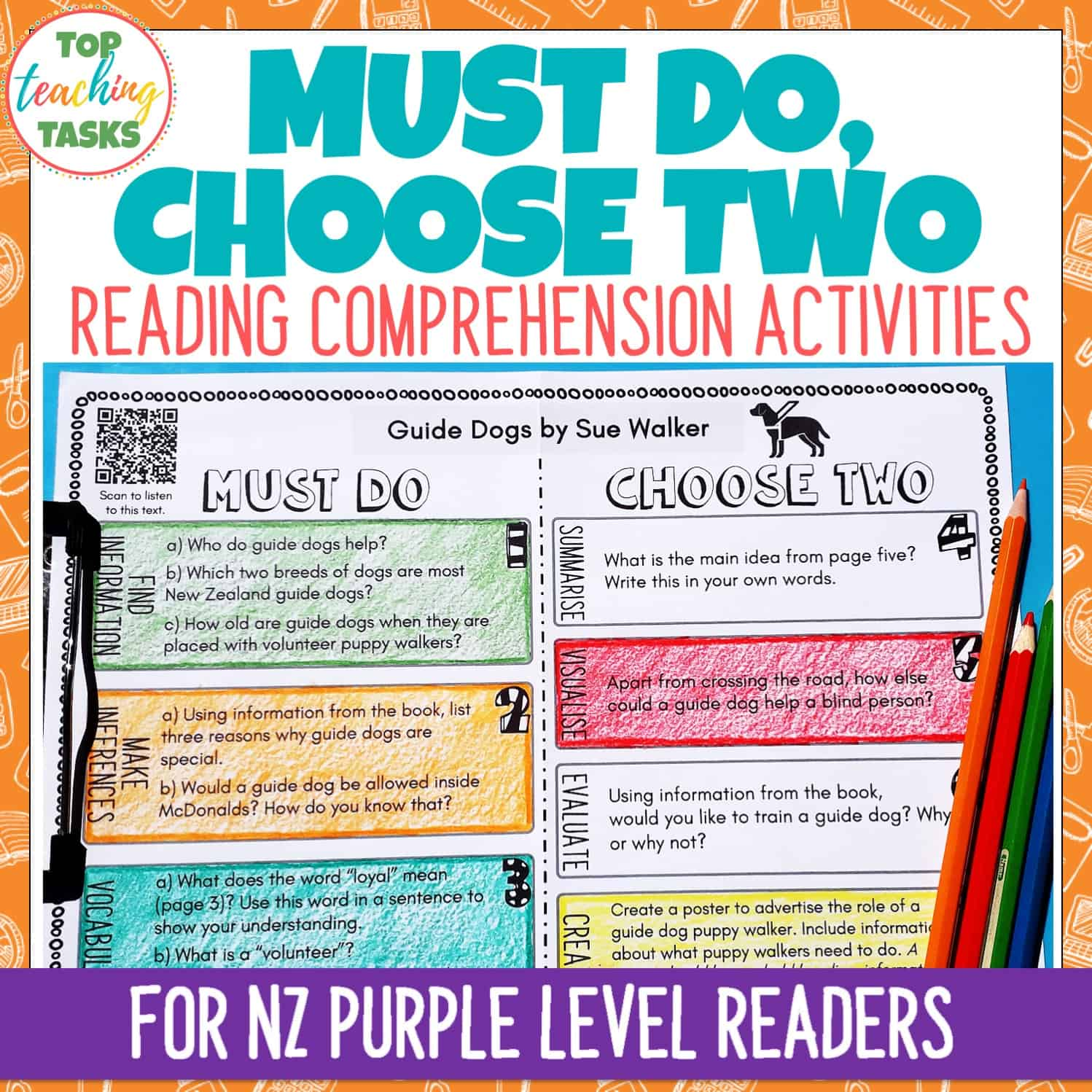 - Ready To Ready Purple Level Reading Comprehension Activities