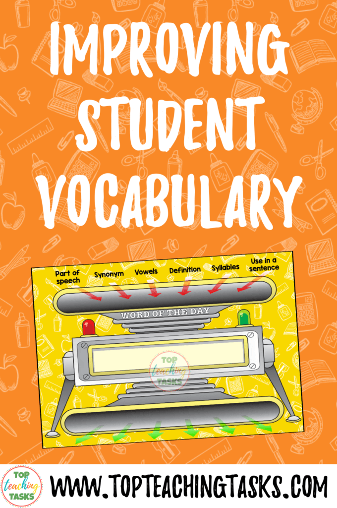 Improving Student Vocabulary. The goal of improving student vocabulary should be front and centre for all teachers. Vocabulary development is important for all students, especially for their development of reading comprehension and writing skills. In fact, research has shown that children with larger vocabularies achieve better results at school. This looks at strategies for improving student vocabulary and offers a free Word of the Day vocabulary resource.
