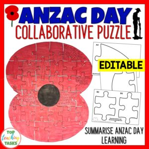 Anzac Day Collaborative Poster