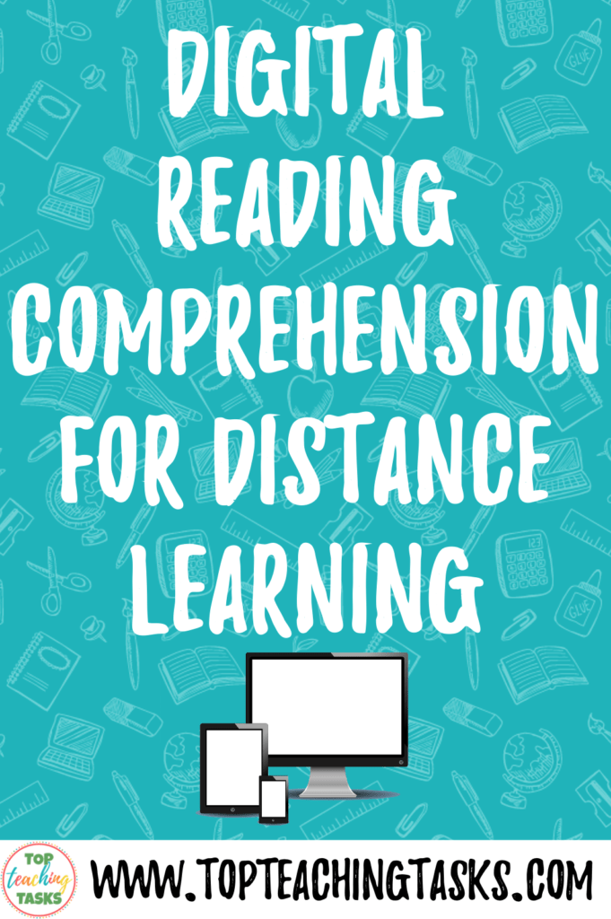 Digital Reading Comprehension for Distance learning. With many of thrown into an unexpected period of distance learning, I wanted to highlight how my digital reading comprehension activities can help your students maintain and improve their reading skills. I've put together a free activity so you can trial Digital Reading Comprehension for Distance Learning.