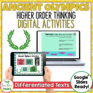 Ancient Olympics Digital Reading Comprehension