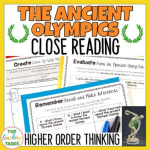 Ancient Olympics Reading Comprehension