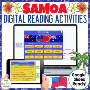 Samoa Digital Reading activity