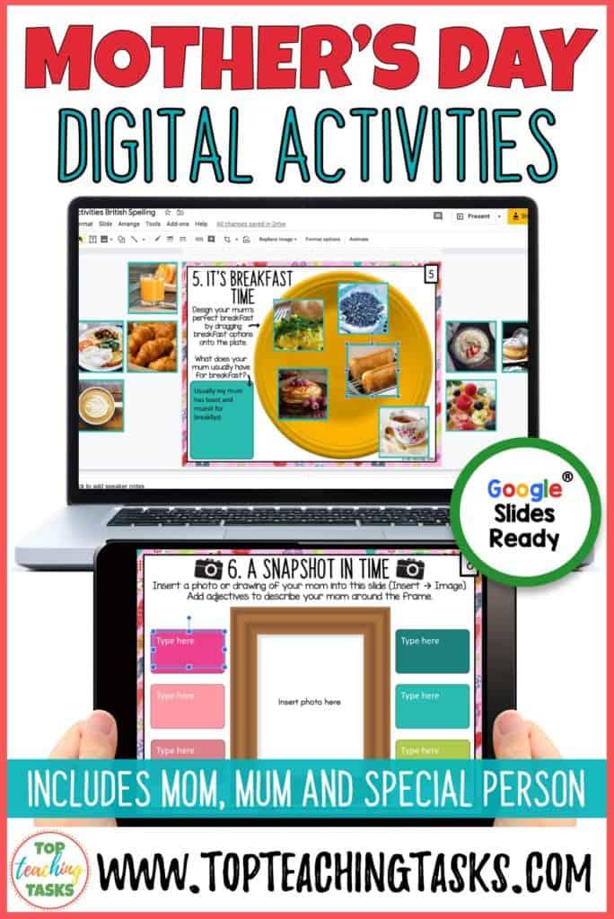 Mother's Day Digital Activities.