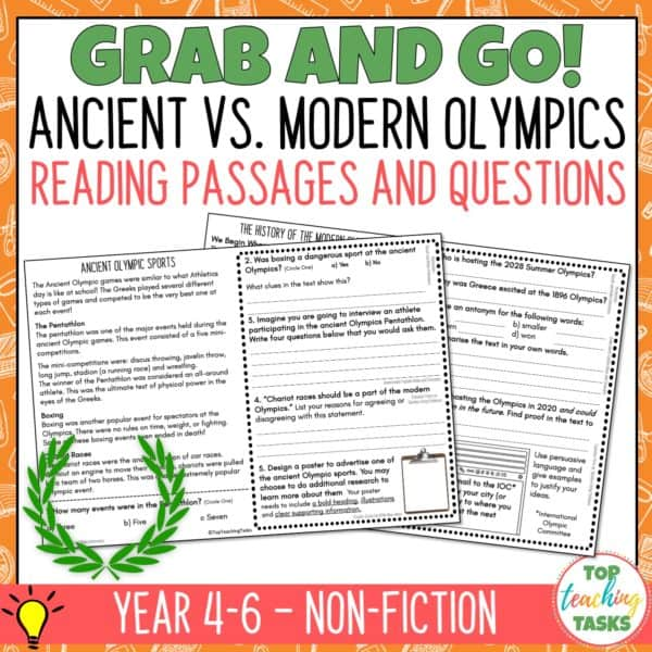 The Ancient Olympics Reading Comprehension 4