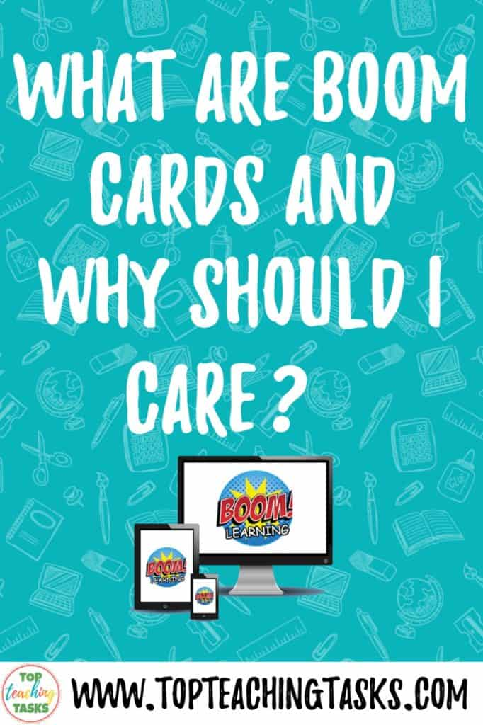 What are boom cards? This blog post explains what Boom Cards: Digital Task Cards and the benefits of using these in the classroom and home. These self-correcting task cards will be great for your elementary students.