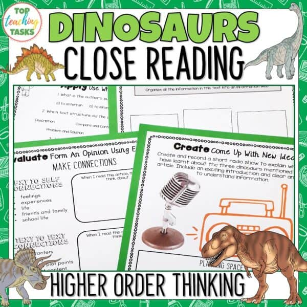 Dinosaurs Reading Comprehension