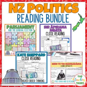 New Zealand Politics Reading Activities