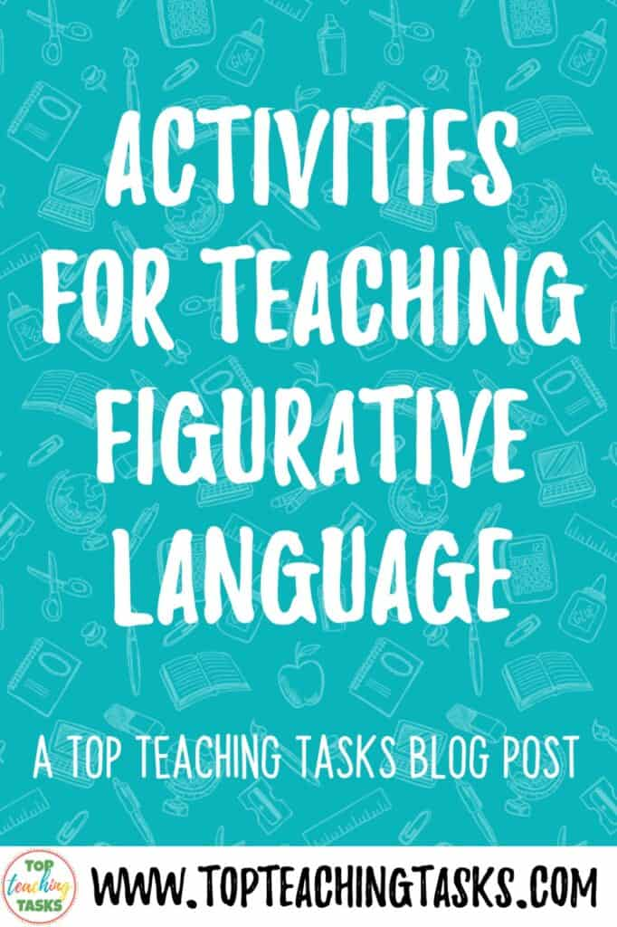Activities for teaching figurative language. I love teaching figurative language! This blog post looks activities for teaching figurative language, including videos, mentor texts, and digital tools. Learn how to teach figurative language using songs and how to teach figurative language using mentor texts.