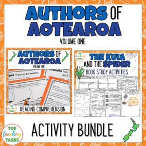 Authors of Aotearoa Reading Comprehension Activity Bundle