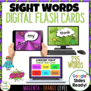 Digital Sight Word Flash Cards