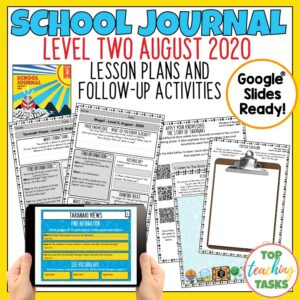 School Journal Level 2 August 2020 Activities