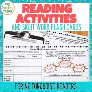 Turquoise Level Reading Comprehension Activities