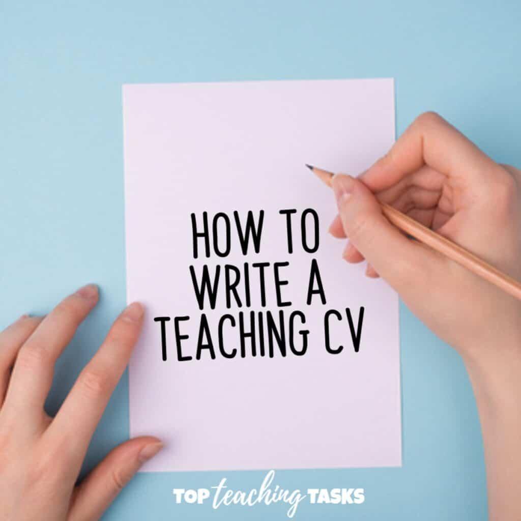 How to write a teacher cv