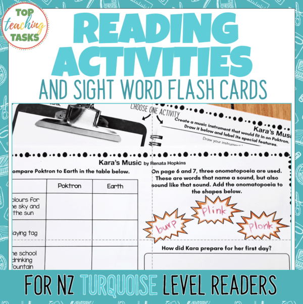 Turquoise Ready to Read Activities Level 17 and 18