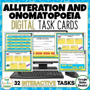 Alliteration and Onomatopoeia Activities Google Classroom