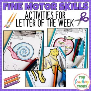 Fine Motor Skills Activities for Letter of the Week