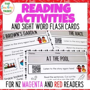 Magenta and Red Ready to Read follow up activities