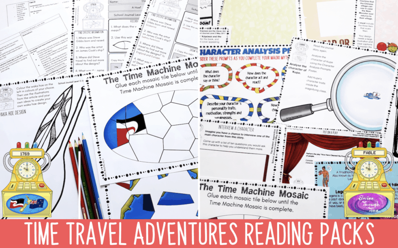 Time Travel Reading Activities