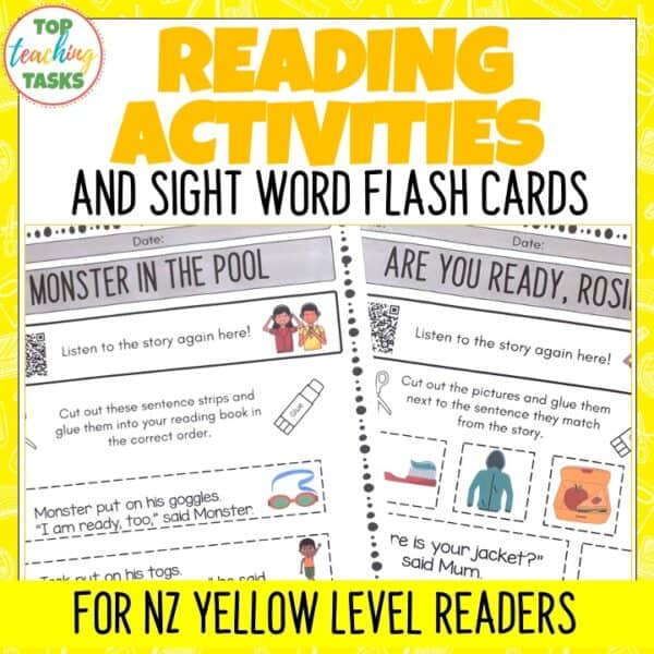 Yellow Ready to Read Activities Level